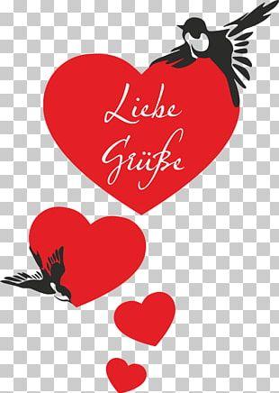 Bird Nest Swallow Heart Valentine's Day PNG