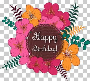 Birthday Flower Computer File PNG