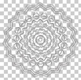 Coloring Book Mandala Black And White PNG