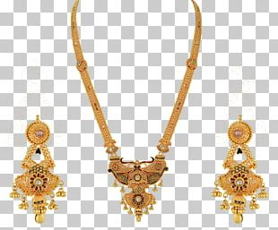 Earring Jewellery Necklace Gold Wedding Dress PNG