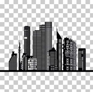 Skyline Silhouette Skyscraper Vexel PNG
