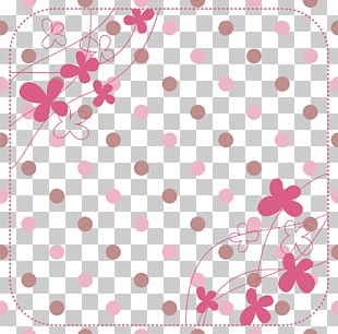 Hand Drawn Pink Flower Dots PNG