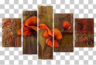 Poppy Flowers Oil Painting Canvas Print Art PNG