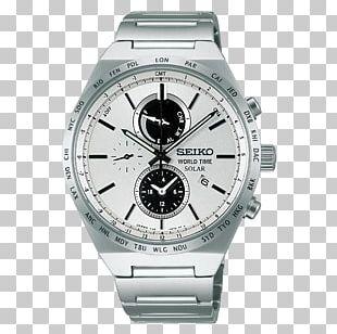 Seiko Solar-powered Watch Chronograph Clock PNG