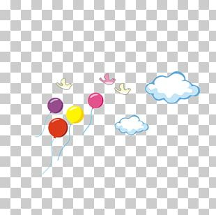 Bird Clouds Flying Balloons PNG