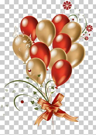 Balloon Gold Red PNG