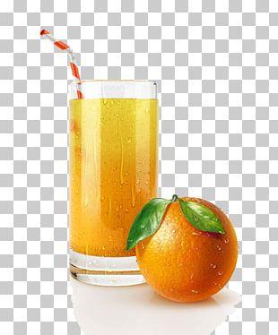 Orange Juice Cocktail Orange Drink Drinking Straw PNG