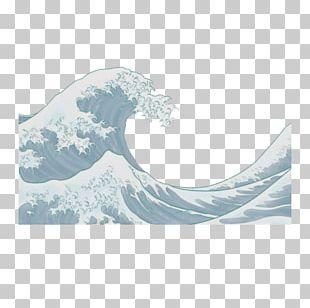 The Great Wave Off Kanagawa Japanese Art Painting PNG