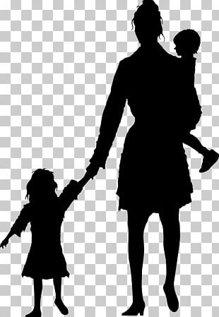 Mother Silhouette Child Stock Photography PNG