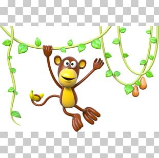 Liana Monkey Sticker Tree PNG