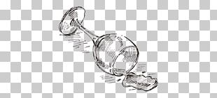 Red Wine Drawing Sketch PNG
