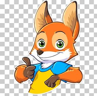 Red Fox Telegram Sticker Character Sketch PNG