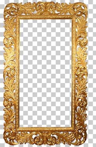 Frames Gold Leaf Mirror PNG