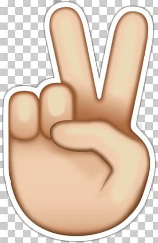Emoji Peace Symbols Sticker V Sign PNG