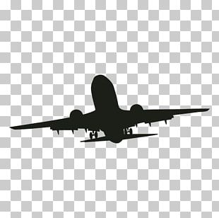 Airplane Silhouette Narrow-body Aircraft Aviation PNG