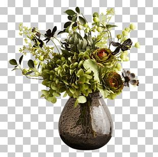 Floral Design Vase Glass Cut Flowers Abigail Ahern PNG