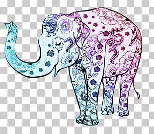 Indian Elephant Drawing Elephants Decorative Arts Ornament PNG
