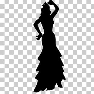 Silhouette Flamenco Belly Dance Traje De Flamenca PNG