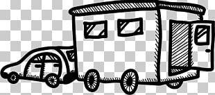 Car Motor Vehicle Campervans Black And White PNG