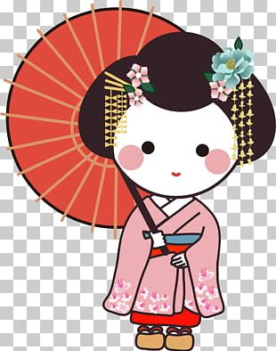 Japan Geisha Cartoon Make-up PNG