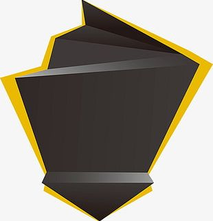Creative Custom Yellow And Black Geometric Shapes PNG