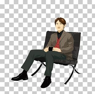 Man Sitting Position PNG