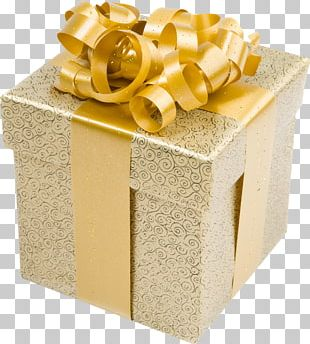 Gift Gold Stock Photography PNG
