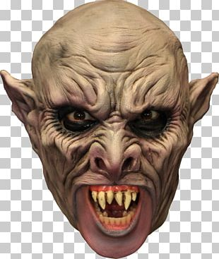 Latex Mask Vampire Costume PNG