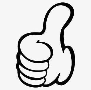 Tilted Thumbs Up PNG