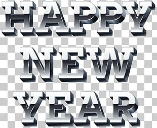 Happy New Year Silver PNG