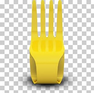 Safety Glove Yellow PNG