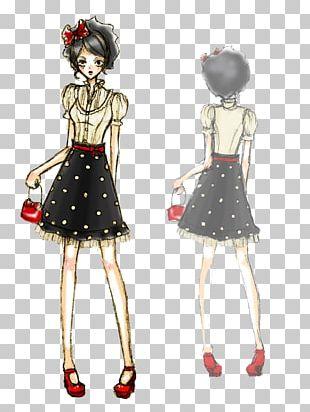 Fashion Model Sketch PNG