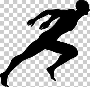 Running Sprint Silhouette PNG