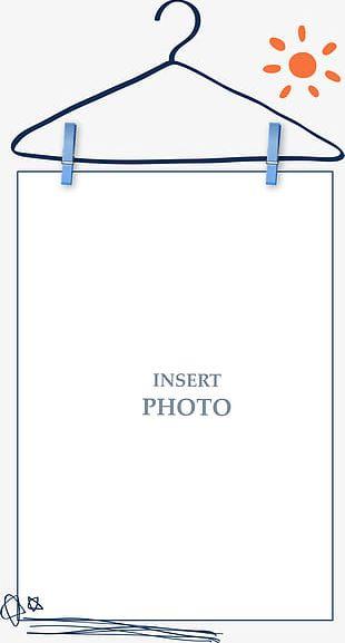Blue Simple Coat Hanger Border Texture PNG