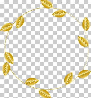 Golden Leaf Title Box PNG