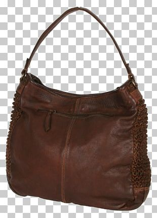 Hobo Bag Tote Bag Leather Brown Caramel Color PNG