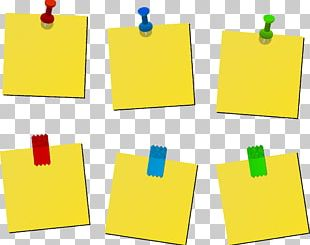 Paper Post-it Note Sticker Drawing Pin PNG