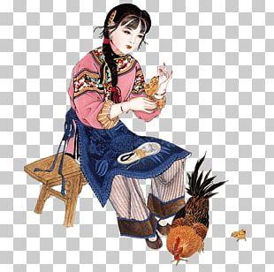 China Gongbi 人物画 国画人物 PNG