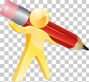 Paper Pencil Person Drawing Illustration PNG