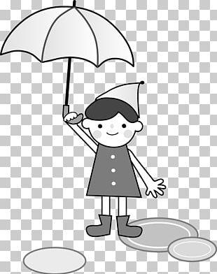 Umbrella East Asian Rainy Season Line Art PNG