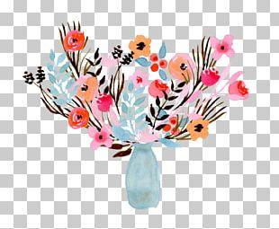 Floral Design Watercolor Painting Flower Bouquet Vase Blume PNG