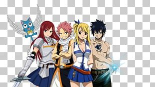 Erza Scarlet Natsu Dragneel Gray Fullbuster Wendy Marvell Fairy Tail PNG