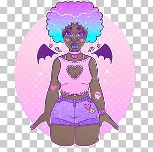 Fairy Illustration Cartoon Design Pink M PNG