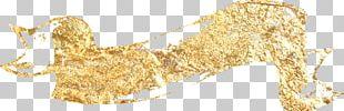 Gold Leaf Material PNG