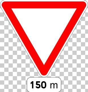 Car Traffic Sign Yield Sign Road PNG