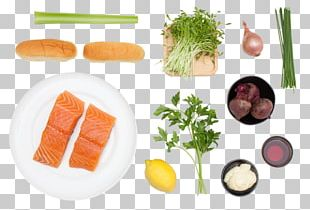 Sashimi Vegetarian Cuisine Smoked Salmon Mirepoix Leaf Vegetable PNG