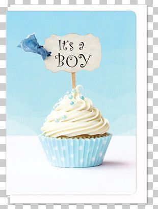 Cupcake Muffin Baby Shower Gender Reveal Frosting & Icing PNG