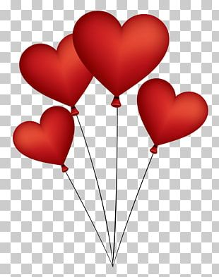 Heart Gas Balloon Valentine's Day PNG