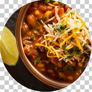 Chili Con Carne Mexican Cuisine Meat Chili Pepper Recipe PNG