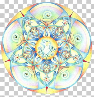 Kaleidoscope Symmetry Circle Mandala Pattern PNG